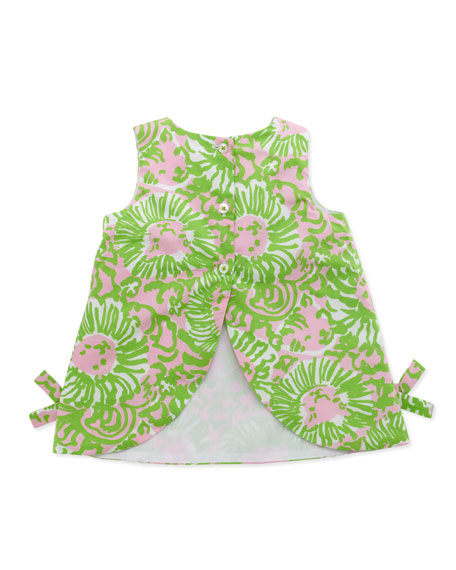 Baby Lilly Lion-Print Shift Dress, Pink,  3-24 Months