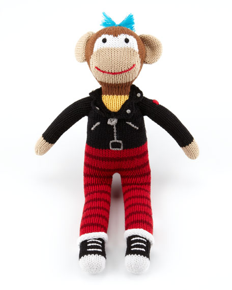 Boys' Rock Monkey Knit Doll