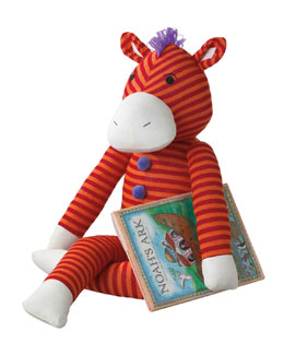 "Monkeez ""Zuzu"" Large Plush Sock Zebra Toy"
