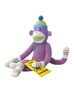 "Monkeez ""Dotty"" Large Plush Sock Monkey Toy"