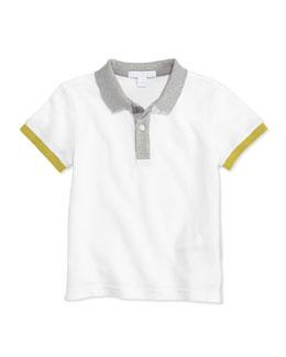 Colorblock Pique Polo, White, 4Y-10Y