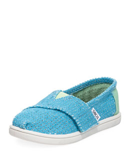 TOMS Freetown Two-Tone Mesh Slip-On, Blue, Tiny