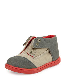 TOMS Colorblock Canvas Botas Shoes, Med Gray, Tiny