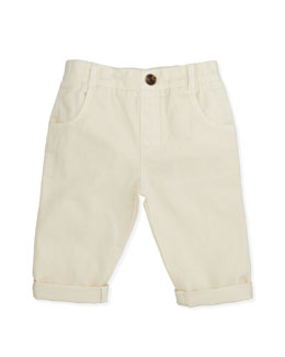 Marie Chantal Pull-On Chino Pants, White, 6-24 Months