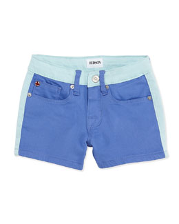 Hudson Leeloo Colorblock Denim Shorts, Provence, Girls' 4-6X