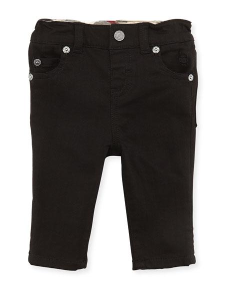 Burberry 5-Pocket Jeans, Black, Girls' 3M-3Y