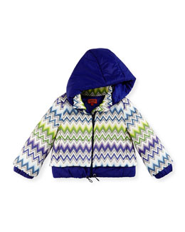 Missoni Zigzag Puffer Coat, Multi, Girls' Sizes 2-10
