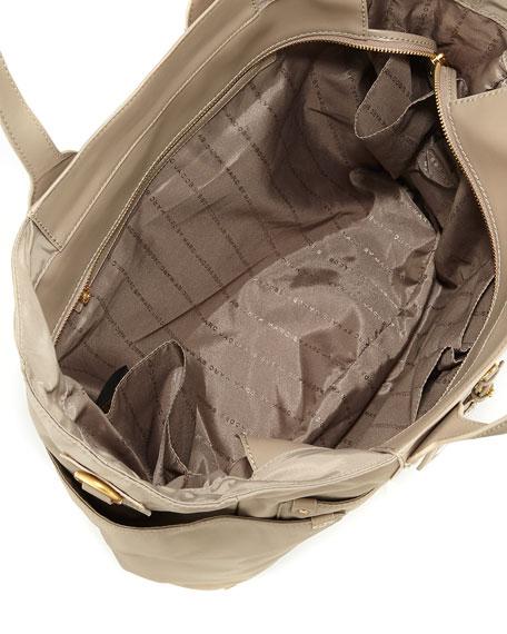 Preppy Nylon Eliz-A-Baby Diaper Bag, Beige