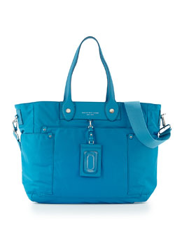 MARC by Marc Jacobs Preppy Nylon Eliz-A-Baby Diaper Bag, Blue