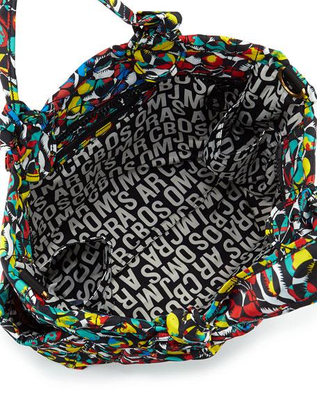 Pretty Nylon Eliz-a-baby Graphic-Print Diaper Bag, Black Multi