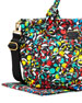 Pretty Nylon Eliz-a-baby Graphic-Print Diaper Bag, Black Multi