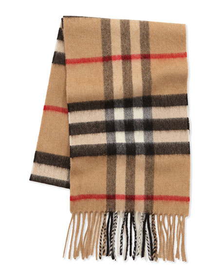 Kids' Check Cashmere Scarf