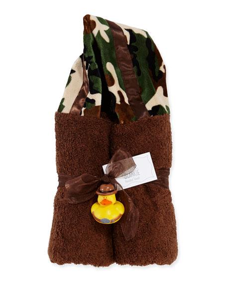 Camouflage Hooded Towel, Brown