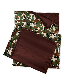 Camouflage Sleeping Bag & Pillowcase Set