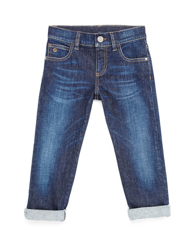 Stretch-Denim Jeans, Kids' Sizes 4-12