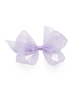 Small Chiffon Organdy Bow, Light Orchid