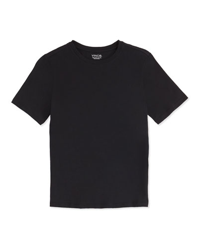 Boy's Favorite Crewneck Tee, Black, 4-7
