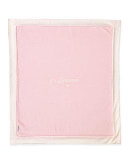 Armani Junior Logo Baby Blanket, Pink
