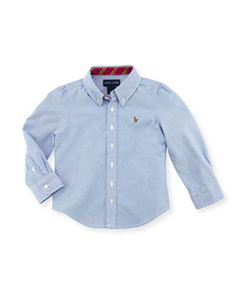 Ralph Lauren Childrenswear Classic Oxford Shirt, Blue, Kids' 2T-3T