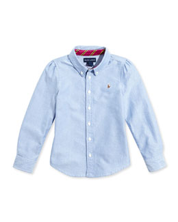 Ralph Lauren Childrenswear Classic Oxford Top, Sizes 4-6X