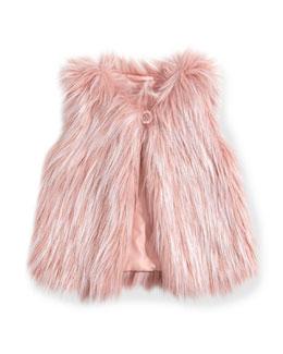Little Marc Jacobs Girls' Faux-Fur Vest, Pink, Sizes 8-12+