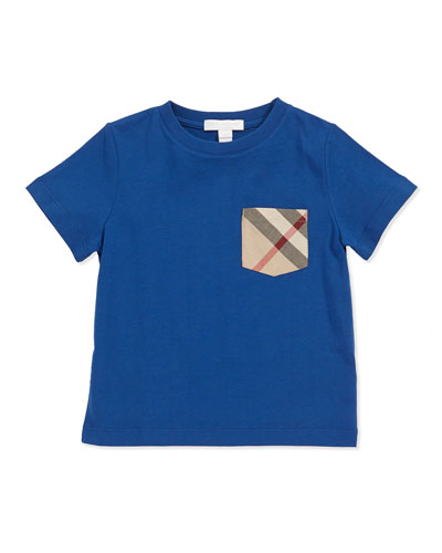 Check-Pocket Tee, Marine Blue