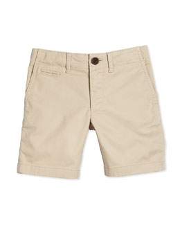 Boys' Chino Shorts, Stone