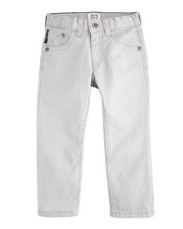 Armani Junior 5-Pocket Pants, Slate, Boys' 2-8