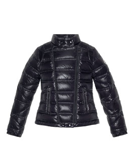 Moncler Nolwen Quilted Nylon Coat, Black