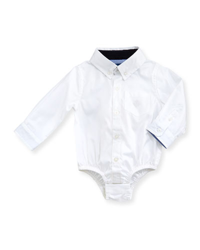 Oxford Shirtzie Bodysuit, White, 3-24 Months