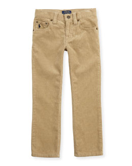 Ralph Lauren Childrenswear 14-Wale Corduroy Pants, Tan, Sizes 4-7