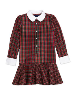 Ralph Lauren Childrenswear Tartan Plaid Poplin Dress, Sizes 4-6X
