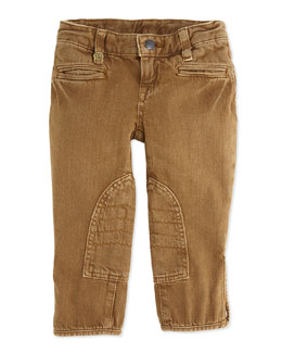 Ralph Lauren Denim Jodhpur Pants, Thorn Wash, 2T-3T