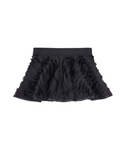 Milly Minis Mille-Feuille Circle Skirt, Black, Sizes 2-7