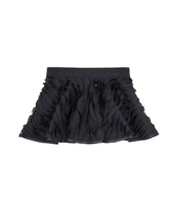 Milly Minis Mille-Feuille Circle Skirt, Black, Sizes 8-14