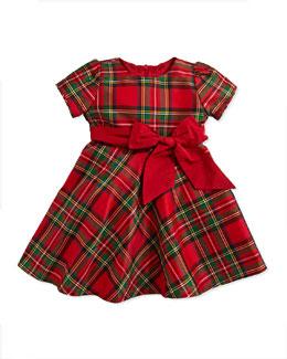 Tartan Plaid Taffeta Dress, 3-24 Months