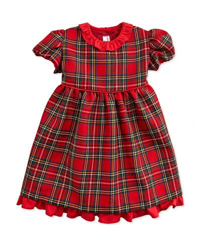Wool-Twill Tartan Plaid Dress