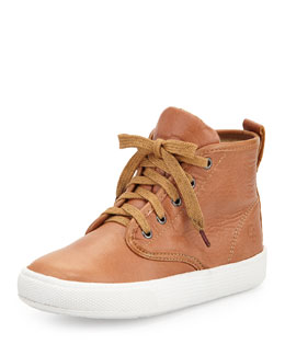 Leather High-Top Sneakers, Youth