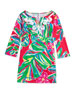 Shel Palm-Print Tunic Dress, Jungle Tumble, XS-XL