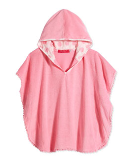 Lace-Trim Terry Coverup, Blush Pink, Girls' 0-7
