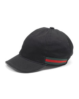 Cotton Baseball Cap, Black