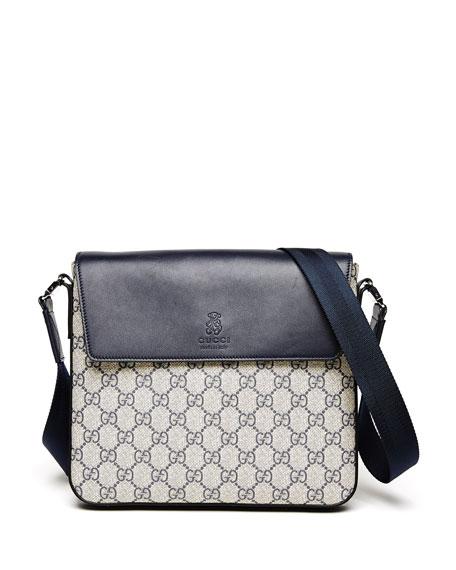 6b60896d6d34 Gucci Logo-Print Faux-Leather Messenger Bag