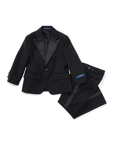 Fairbanks Wool Tuxedo, Black, Boy
