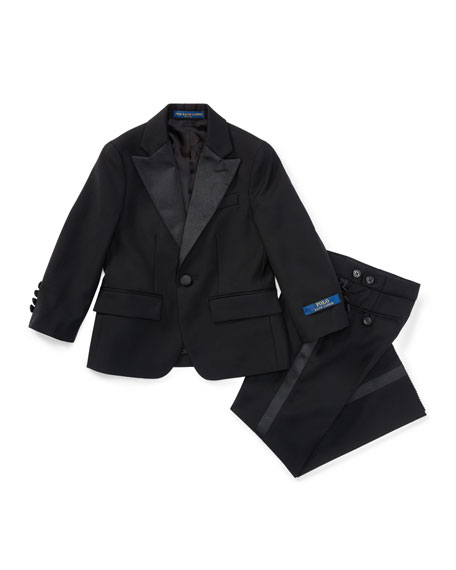 Fairbanks Wool Tuxedo, Black, Boy's Sizes 4-7