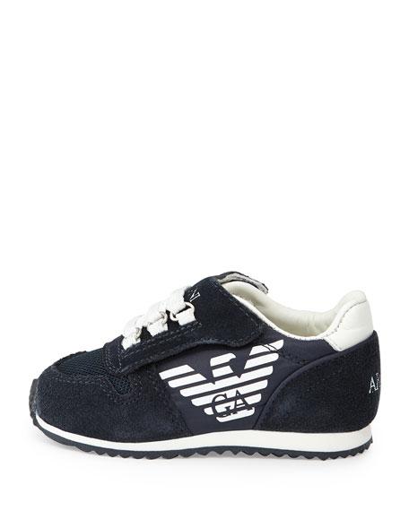 Mock Lace-Up Sneaker, Indigo/White, Sizes 5-13