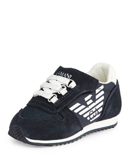 Mock Lace-Up Sneaker, Indigo/White, Sizes 5-13