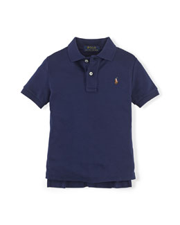 Short-Sleeve Pima Polo Shirt, Cruise Navy, Size 2-7