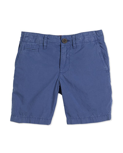 Tristen Cotton Chino Shorts, Canvas Blue, Size 4Y-14YY