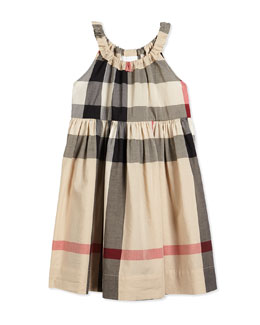 Sleeveless Shift Sundress, New Classic Check, Size 4Y-14Y
