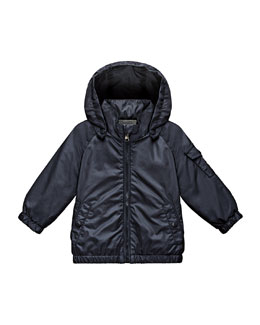 Eautache Zip-Front Raincoat, Navy, Size 12 Months-3